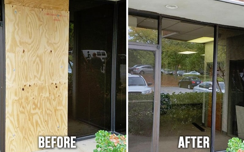 commercial glass repair atlanta